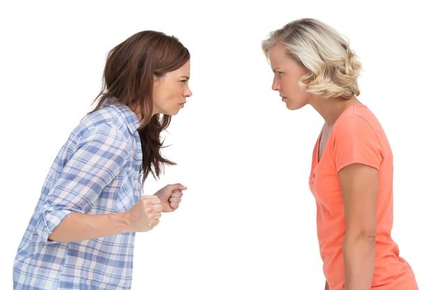 Zwei frauen streiten