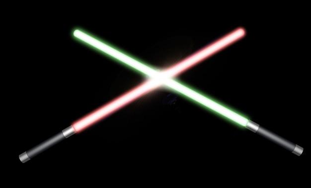 Zwei lichtschwerter