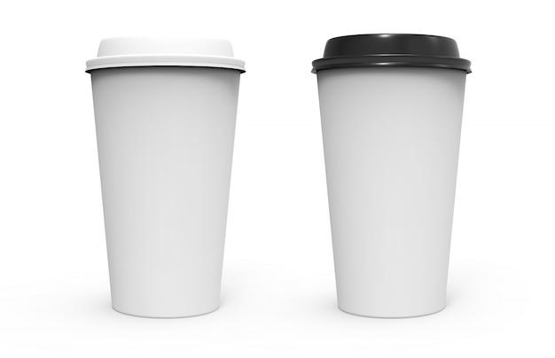 Zwei papierkaffeetasse