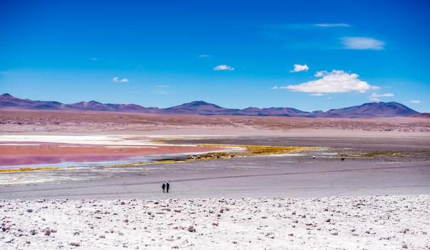 Zwei personen in der lagune von colorado