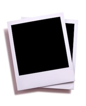 Zwei polaroidfarbene fotos
