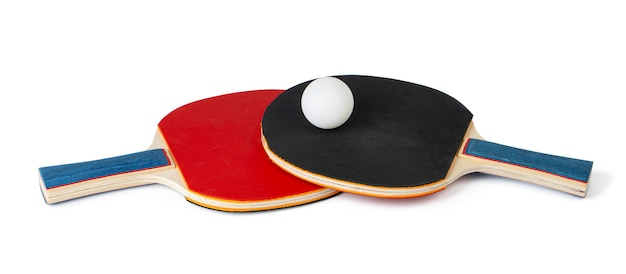 Zwei tischtennisschläger lokalisiert