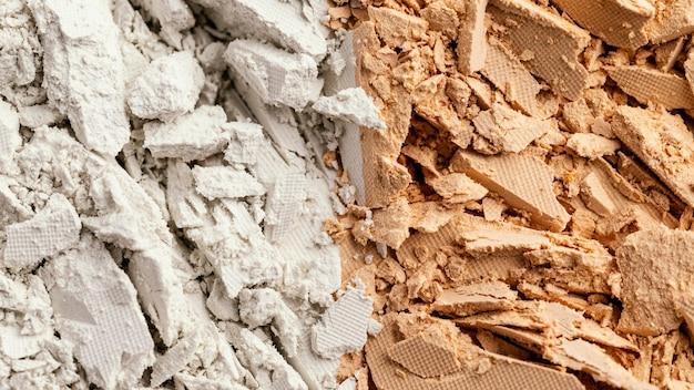 Zweifarbig pigmentiertes pulver