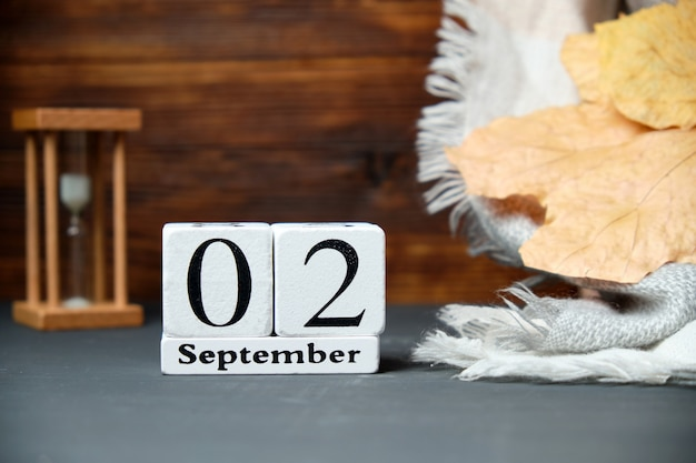Zweiter tag des herbstmonats kalender september