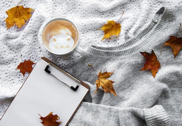 Zwischenablage und kaffee