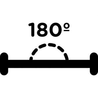 180 degrees angle