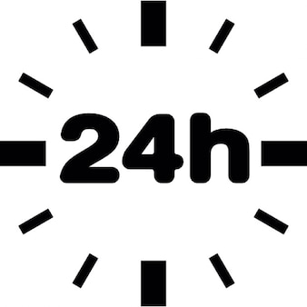 24 hour clock without border