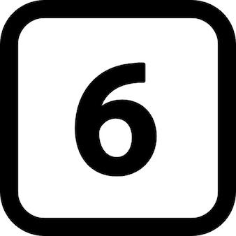 角の丸い四角で6