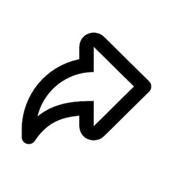 前方の矢印