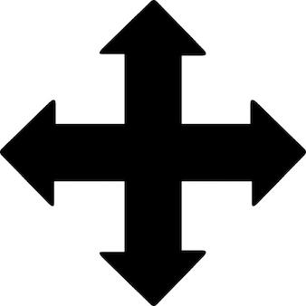 すべての方向の矢印