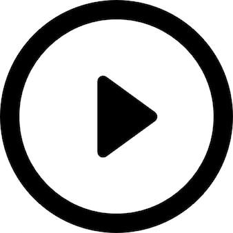 丸みを帯びた再生ボタン