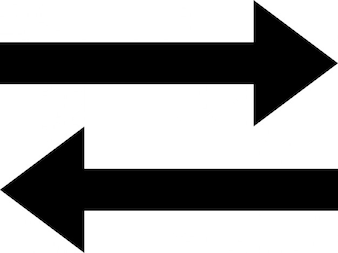 Две стрелки, представляющие передачи