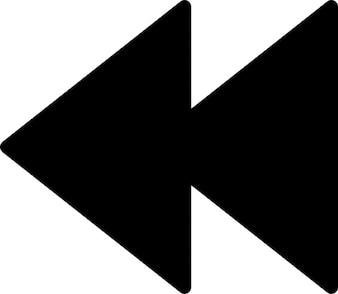 プレーヤーの巻き戻しのシンボル