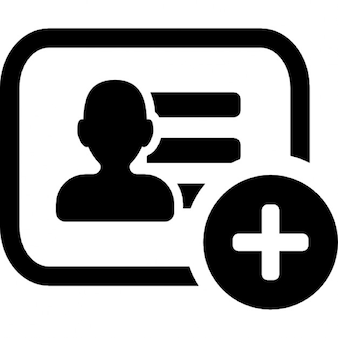 Add business card symbol