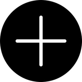 Add button, thin line, IOS 7 interface symbol