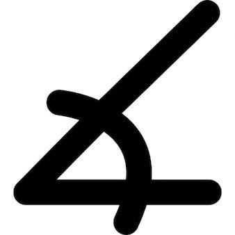Angle of acute shape