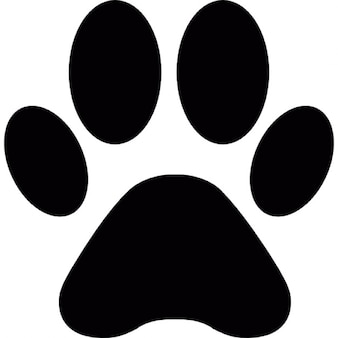 Animal paw print shape