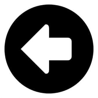 Freccia in un punto cerchio a sinistra