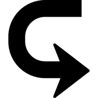 Arrow in U shape to turn