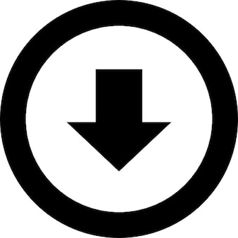 Arrow point to down in a circle