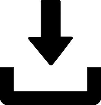 ダウンロードを表す矢印