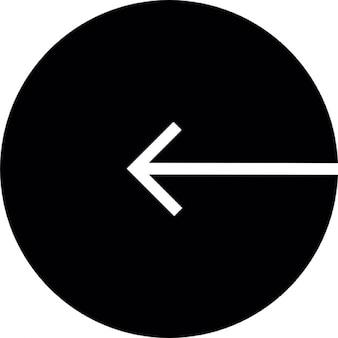 Arrow to the left inside a circular outline