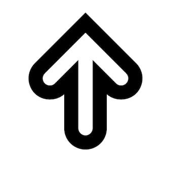 Arrow up outline