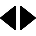 右矢印と左黒三角
