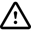 Attention exclamation triangular signal