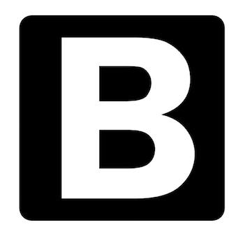 B black square Free Icon
