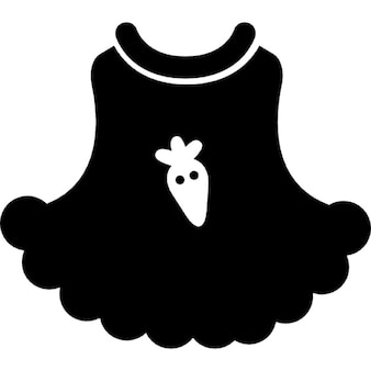 Baby dress with a strawberry cartoon illustration