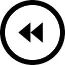 後方の円形のマルチメディアボタン