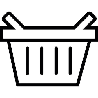 Basket for shopping or picnic, IOS 7 interface symbol