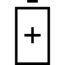 Battery big symbol with plus sign inside
