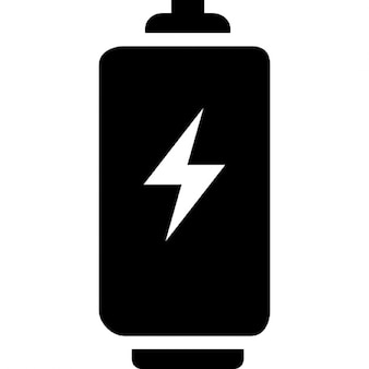 Battery tool with bolt sign