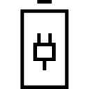 Battery with plug symbol