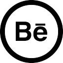 Behance logo in circular social interface button