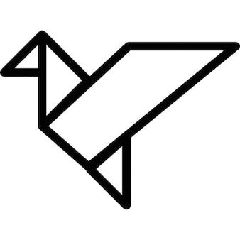 Bird in flight origami outline