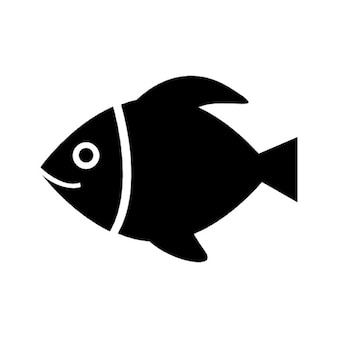 Black fish sketch vector