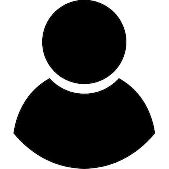 Black male user symbol
