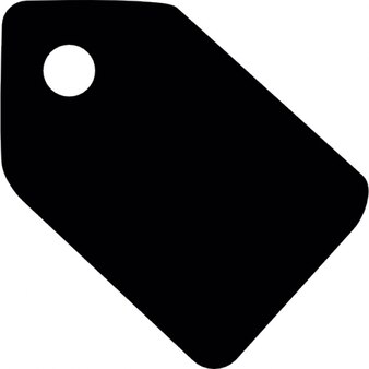 Black paper tag