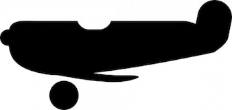 Black plane silhouette