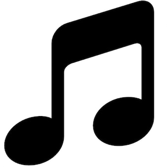 Black simple music note vector