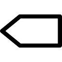 Blank left arrow
