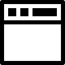 Blank window symbol