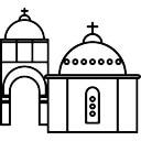 Blue Domed Churches