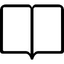 Book open blank pages