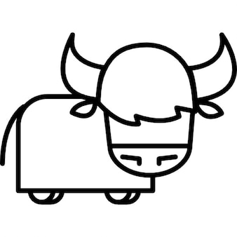 Bull cartoon variant