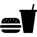 Burger and soda