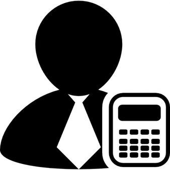Businessman with a calculator